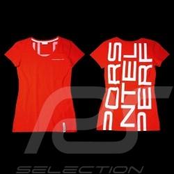 T-shirt Porsche Racing rouge Porsche Design WAP797 - femme woman damen