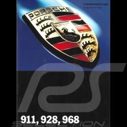 Porsche Brochure 911 928 968 Range 8/1993 in german WVK12731194