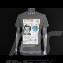 Steve McQueen T-shirt Driving License Grey Hero Seven - men