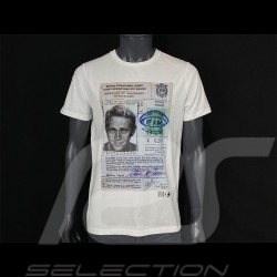T-Shirt Steve McQueen Driving License weiß Hero Seven - Herren