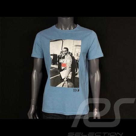Paul Newman T-shirt American Idol Blue Hero Seven - men