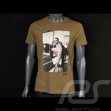 Paul Newman T-shirt American Idol Kaki Green Hero Seven - men