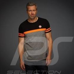 T-shirt Gulf Tricolore Premium Noir / Orange / Gris black / grey / schwarz / grau homme men herren