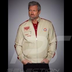 Gulf Jacke Michael Delaney / Steve McQueen Le Mans Baumwolle Beige - Herren