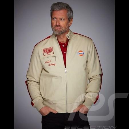 Gulf  Jacket Michael Delaney / Steve McQueen Le Mans Cotton Beige - men