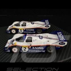 Duo Porsche 956K n° 1 & n° 2 1000km Nürburgring 1983 1/43 Werk83 W83430003