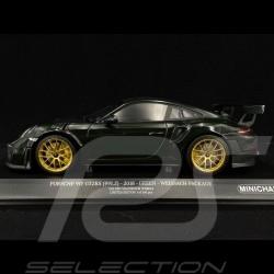 Porsche 911 GT2 RS type 991 2018 vert foncé Pack Weissach 1/18 Minichamps 155068306