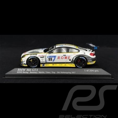 BMW M6 GT3 n° 99 ROWE Racing 24h Nürburgring 2017 1/43 Minichamps 437172699