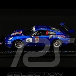 Porsche 911 Type 991 GT3 Cup n° 53 Vainqueur winner sieger Carrera Cup France 2018 1/43 Spark SF140