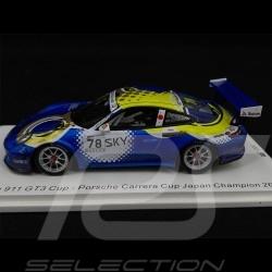 Porsche 911 GT3 Cup n° 78 Vainqueur Carrera Cup Japan 2018 1/43 Spark SJ066