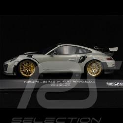 Porsche 911 GT2 RS type 991 2018 gris craie grey chalk grau Pack Weissach 1/18 Minichamps 155068304