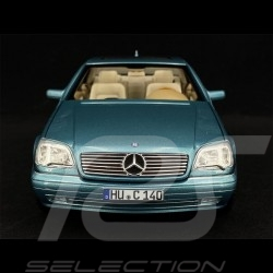 Mercedes - Benz CL600 Coupe 1997 Metallic Blue 1/18 Norev 183448
