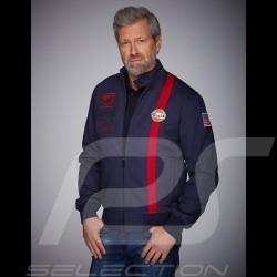 Veste Jacket Gulf Michael Delaney / Steve McQueen Le Mans Coton Bleu Marine - homme