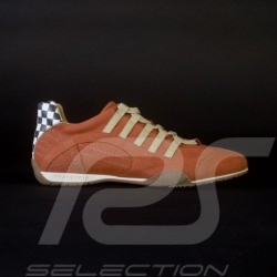 Chaussure shoes schuhe Sport sneaker / basket Style pilote orange - homme