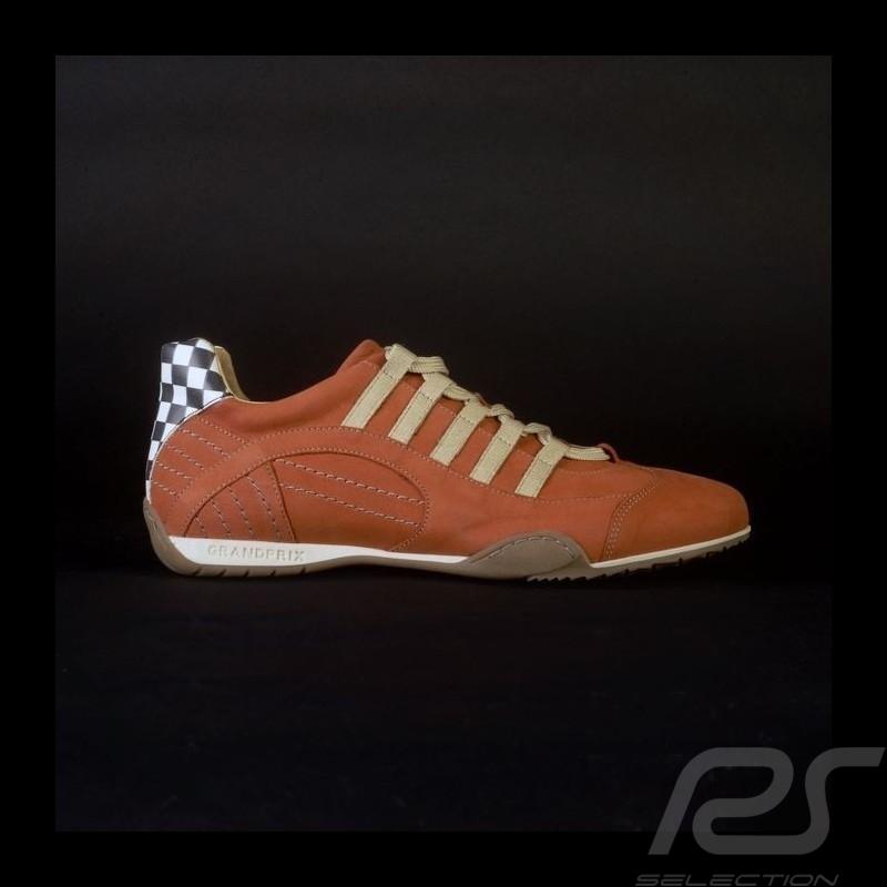 Sneaker / basket shoes Style race driver orange - men
