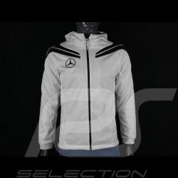 Veste Mercedes Softshell à capuche Blanc / Noir Mercedes-Benz SG6840 - homme