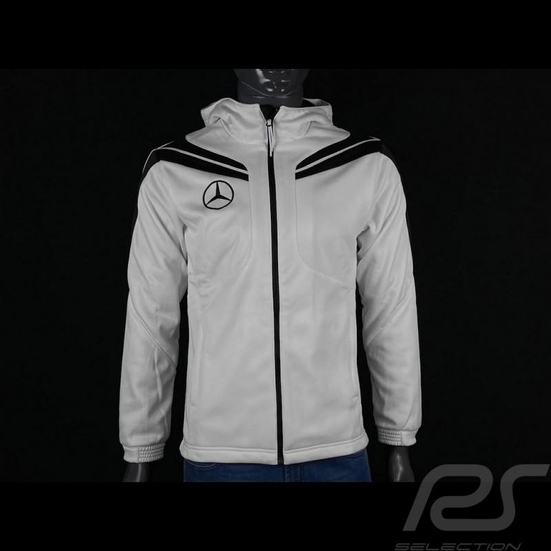Mercedes Softshell jacket White / Black Hoodie Mercedes-Benz SG6840 - men