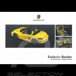 Porsche Brochure Boxster 2013 WSL91401000530FR