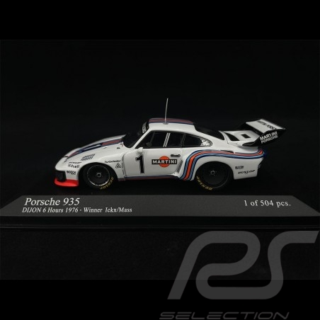 Porsche 935 6h Dijon 1976 n° 1 Martini 1/43 Minichamps 400766311