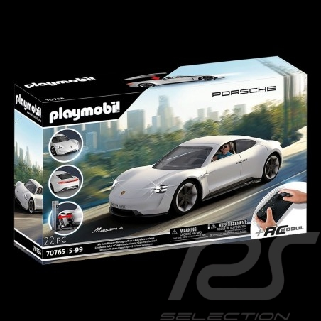 Porsche Mission E radiocommandée Blanche avec personnage Playmobil 70765
