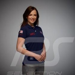 Gulf Racing Steve McQueen Le Mans n° 20 Polo Navy blue - women