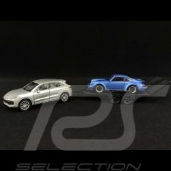 Ensemble Friction Porsche Cayenne Turbo avec remorque et 911 Turbo 1/43 Welly MAP01093020