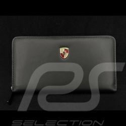 Porsche Wallet Coins holder Women's Metal crest Black Leather WAP0300210NGBD