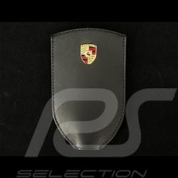 Porsche key pouch Metal crest Black leather WAP0300400NSLT