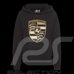 Veste Porsche à capuche Hoodie Ecusson Porsche Noir / Or WAP725NPOR Jacket Jacke femme women damen