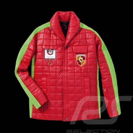 Porsche jacket factory mechanic Seventies style Red Green WAP841F - men