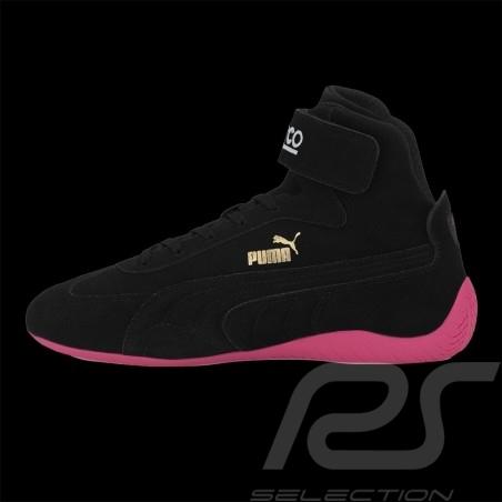Puma Sparco Pilot Shoes Speedcat Leather Black / Pink - women