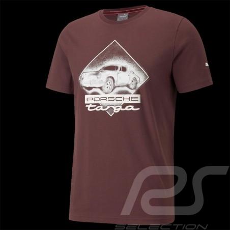 T-shirt Porsche 911 Targa Puma Carmona Red / White - men 531963-03