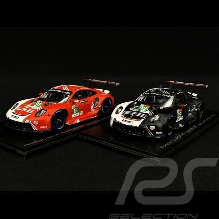Duo Porsche 911 RSR Type 991 n° 91 & 92 24h Le Mans 2020 1/43 Spark S7983 S7984