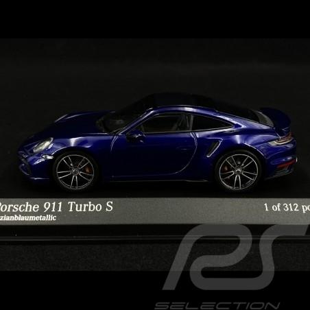 Porsche 911 type 992 Turbo S metallic blue 1/43 Minichamps 410069471