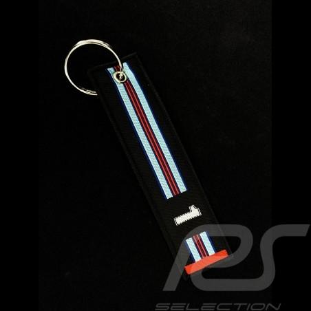 Keyring Selection RS n° 1 Racing Black Blue / Red Stripes