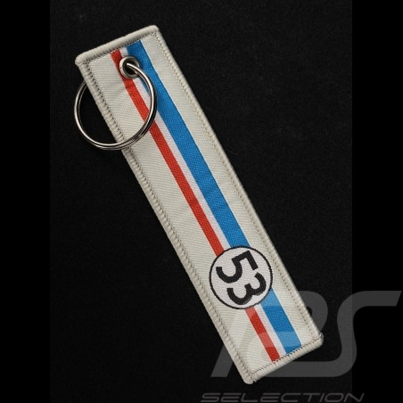 Keyring Selection RS n° 53 Racing Cream / Blue White Red Stripes
