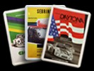 Porsche Postkarte aus Metall